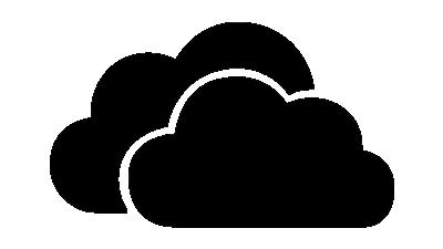 Dark OneDrive logo